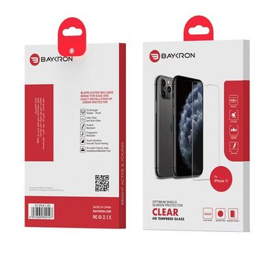 Baykron OT-IPC6.1-2D Clear Tempered Glass iPhone 11 XR