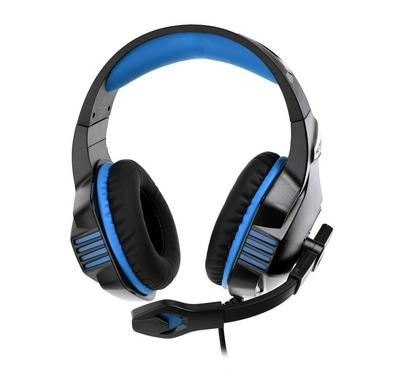 Kotion Each, Pro gaming headset surrounding with mic for PS4, black and blue with LED