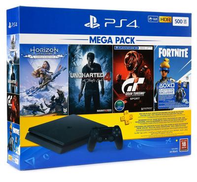 PlayStation 4 500GB Mega Pack Bundle with 1 Controller and 4 Games