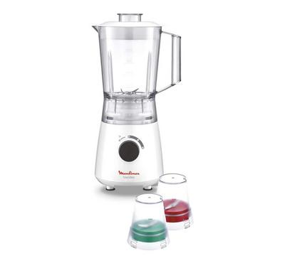 Moulinex Blender Blendeo, 400W, 1.25L. 2 Speeds+Pulse,with Grinder and Grater