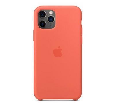 Apple iPhone 11 Pro Silicone Case, Clementine ,Orange