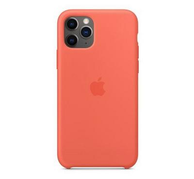 Apple iPhone 11 Pro Max Silicone Case, Clementine (Orange)
