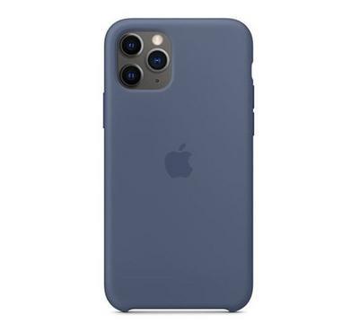 أبل أيفون 11 برو ماكس غطاء سيليكون، أزرق