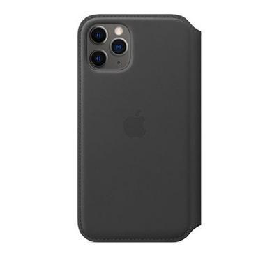 أبل، حافظة جلد قابل للطي، أيفون 11 برو  ، أسود