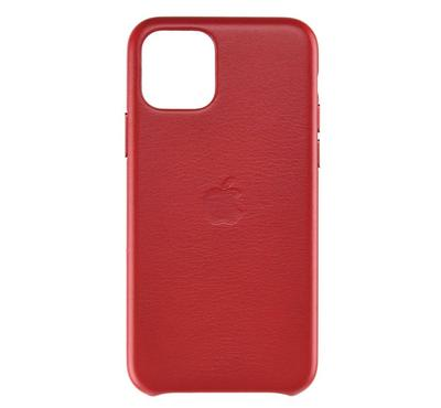 Apple iPhone 11 Pro Max Leather Case, (PRODUCT)RED