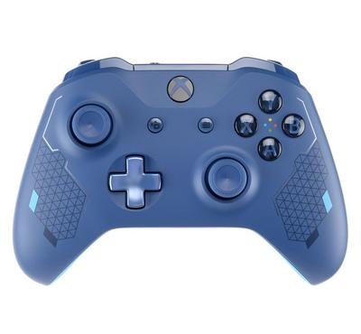 Xbox One Branded Wireless Controller, Blue Sport 3