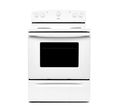 Amana Freestanding Electric Range, Coil Elements, 4 Burners,White