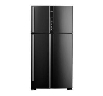 هيتاشي ثلاجة، 24.8 قدم، مروحة تبريد مزدوجة، أسود