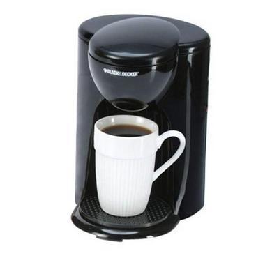 Black and Decker Coffee Maker, 0.125L , Black