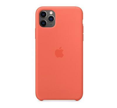 Apple iPhone 11 Pro Max Silicone Case Clementine Orange