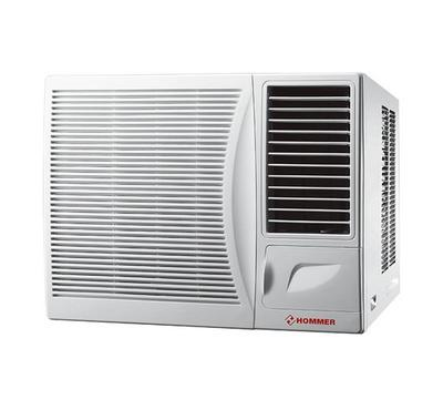 Hommer 1.5T Window A/C Rotary Compressor 18300BTU White. Normal Motor