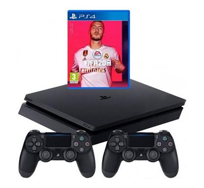Sony PS4 1TB Gaming Console +FIFA20 Game Bundled Pack Black