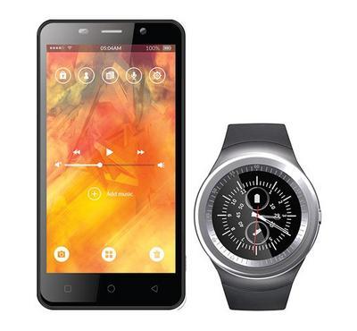 i-Life Fivo lite Smart Phone With ZEED Smart Watch, Silver
