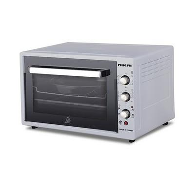 Nikai 60L Electric Oven Toaster With Convection 2000W Silver.
