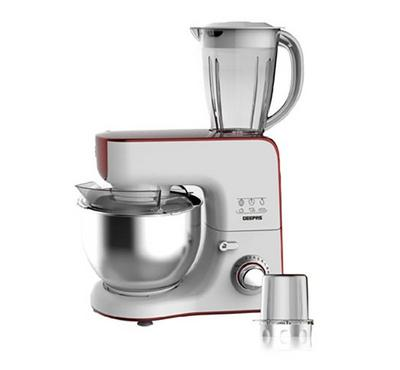 Geepas 5in1 5.5L Kitchen Machine Stand Mixer 1000W Red/White