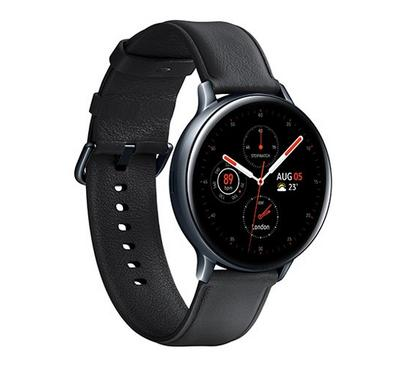 Samung Galaxy Watch Active 2, 44MM Stainless Steel leather, Black