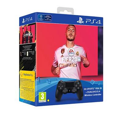 Sony Fifa20 Game, DS4 Dualshock 4 2 Wireless Game Controller Bundle Offer