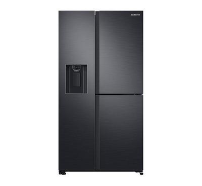 سامسونج ثلاجة، باب جانب باب، 21.2 قدم، أسود