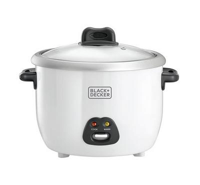 B+D Rice Cooker With Glass Lid,1.8L, 700W, White