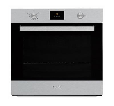 Ariston Built-In Gas Oven With Gas Grill, 60Cms,Inox