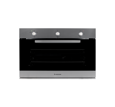 Ariston Built In Oven 90Cms Gas Oven with Gas Grill, 95L Cavity,Inox