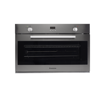 Ariston Built-In Oven 90Cms, Gas Oven , Fan , Electric Grill, Digital Display, Inox