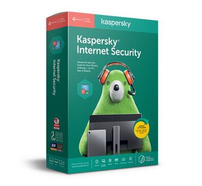 كاسبرسكي ، مضاد للفيروسات حماية الإنترنت 2020 ، 4 مستخدمين