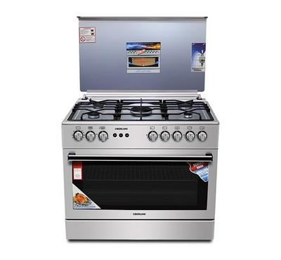 Berloni Gas Cooking Range w/ Convection, 90x60cm, Stainless