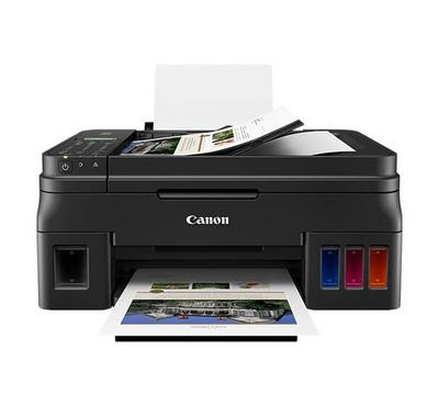 Canon Ink Tank Printer 4-in-1 Print, Scan, Copy and Fax w/ Wi-Fi, Black