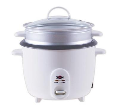 Zen Rice Cooker w/ Glass Lid, 1L, 400W, White Bundled Offer