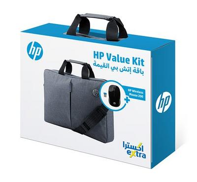 HP Value Kit, 15.6 Essential Topload, Wireless Mouse 200