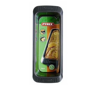 Pyrex CLASSIC 26x10cm Rectangular Bakeware Loaf Pan, Black