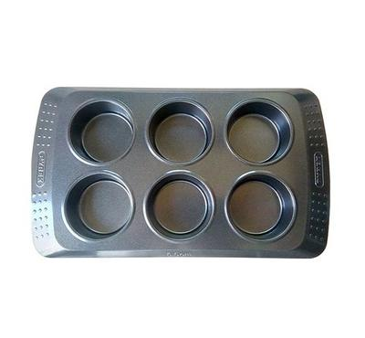 Pyrex CLASSIC 6.5cm 6s Bakeware Muffin Mold Pan Steel Black