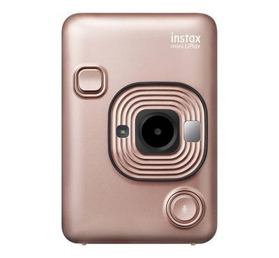 FUJIFILM INSTAX Mini LiPlay Hybrid Instant Camera, Blush Gold