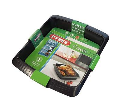 Pyrex CLASSIC 24x24cm Square Oven Roaster Pan Steel Black