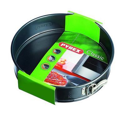 Pyrex Classic 24cm Round Springform Cake Pan, Steel Black