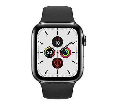 Apple SERIES 5 44mm Smartwatch Stainless 4G Sport Band Black