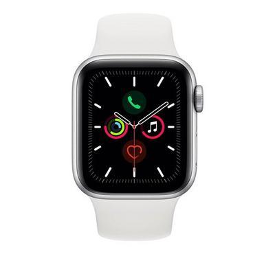 Apple SERIES 5 44mm Smartwatch Aluminum 4G Sport Band Silver