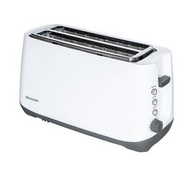 Sharp 4 Slice Toaster 1400W White