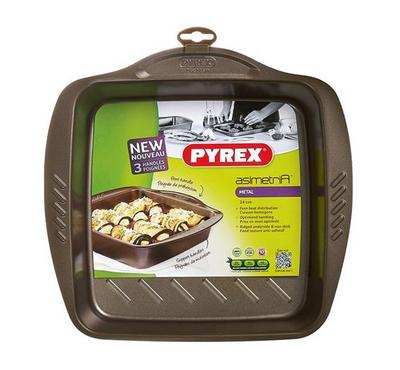 Pyrex ASIMETRIA 24x24cm Square Oven Roaster Pan Steel Brown