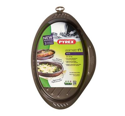 Pyrex ASIMETRIA 35x23cm Oval Oven Roaster Pan Steel Brown