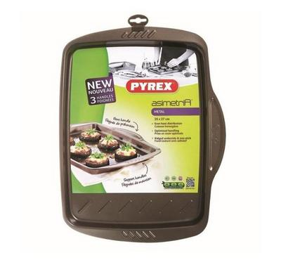 Pyrex ASIMETRIA 35x27cm Rectangular Baking Pan Steel Brown