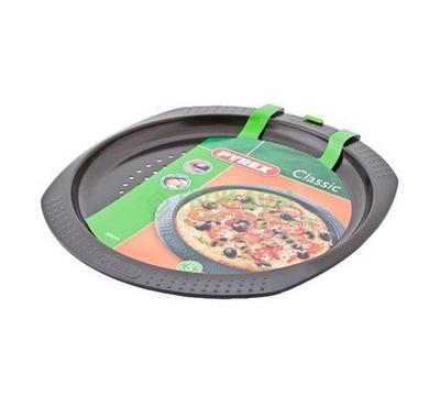 Pyrex CLASSIC 30cm Round Pizza Pan Non-Stick Steel Black