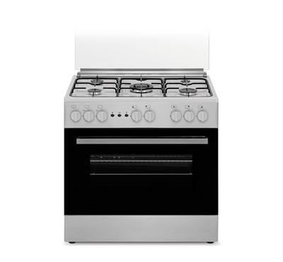 Fratelli Cooker 80 x 55, 5 Burner, Glass Door, Silver