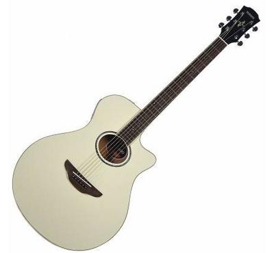 Yamaha, Electric Acoustic Guitar Vintage, White