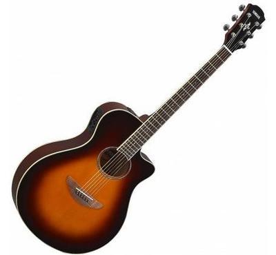 Yamaha, Electric Acoustic Guitar Old Violin, Sunburst