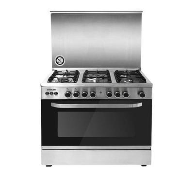 Nikai 90x60 Gas Cooking Range Stainless Steel Silver