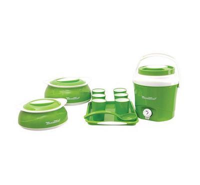 مينوميكس بيليزا، براد مياه مع 11 قطعة، أخضر/ ابيض