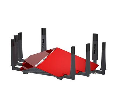 D-Link Wireless Router AC 5400 Tri Band, 4x Gigabit Port, Red