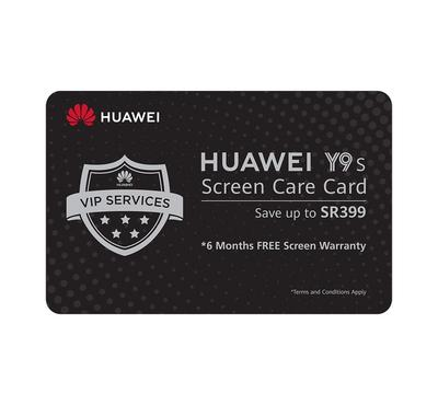 Huawei Y9s VIP Care Card